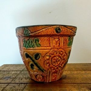 Thai Colorful Hand-Painted Flower Pot